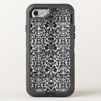 Capa Para iPhone 8/7 OtterBox Defender Teste padrão envelhecido do preto do estilo do