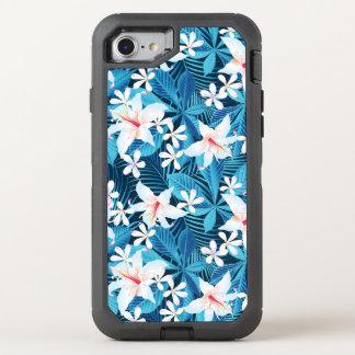 Capa Para iPhone 8/7 OtterBox Defender Teste padrão floral 2 do hibiscus tropical