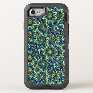 Capa Para iPhone 8/7 OtterBox Defender Teste padrão floral étnico abstrato colorido da