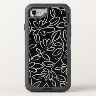 Capa Para iPhone 8/7 OtterBox Defender Teste padrão floral overlay - você escolhe a cor