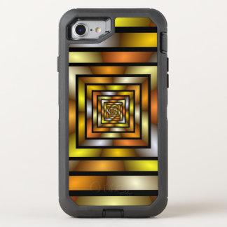 Capa Para iPhone 8/7 OtterBox Defender Teste padrão gráfico colorido do Fractal do túnel
