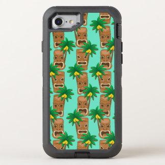 Capa Para iPhone 8/7 OtterBox Defender Teste padrão havaiano da repetição de Tiki