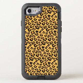 Capa Para iPhone 8/7 OtterBox Defender Teste padrão selvagem da pele do falso do leopardo