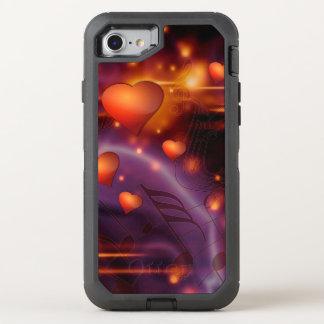 Capa Para iPhone 8/7 OtterBox Defender Teste padrão vermelho bonito do amor