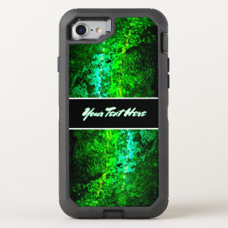 Capa Para iPhone 8/7 OtterBox Defender Texto verde abstrato pessoal