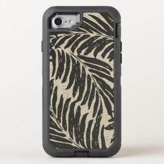 Capa Para iPhone 8/7 OtterBox Defender Textura havaiana de linho do falso das palmas de
