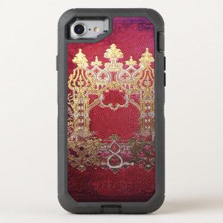 Capa Para iPhone 8/7 OtterBox Defender Tinta de Falln manchada carmesim