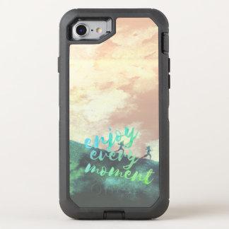 Capa Para iPhone 8/7 OtterBox Defender Tipografia Running da corrida verde da aguarela
