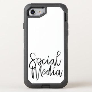 Capa Para iPhone 8/7 OtterBox Defender Tipografia social dos amantes dos meios