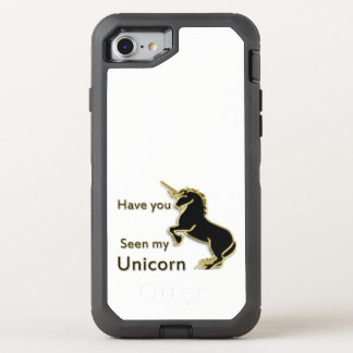 Capa Para iPhone 8/7 OtterBox Defender Unicórnio mágico do conto de fadas do ouro