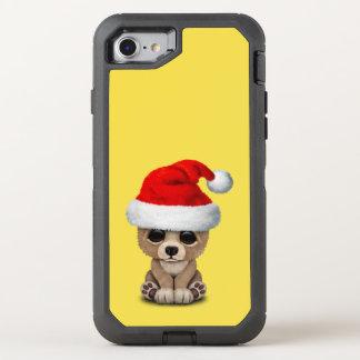Capa Para iPhone 8/7 OtterBox Defender Urso do bebê que veste um chapéu do papai noel