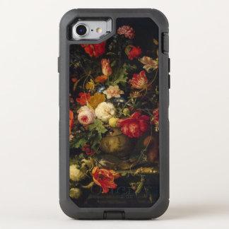 Capa Para iPhone 8/7 OtterBox Defender Vaso floral do vintage elegante