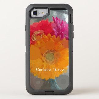 Capa Para iPhone 8/7 OtterBox Defender Verão alaranjado vermelho Otterbox das margaridas