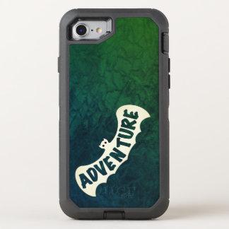 Capa Para iPhone 8/7 OtterBox Defender VERDE do SINAL da AVENTURA do BASTÃO por