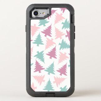 Capa Para iPhone 8/7 OtterBox Defender Verde roxo do rosa pastel do teste padrão da