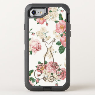 Capa Para iPhone 8/7 OtterBox Defender Vestido elegante adorável, floral