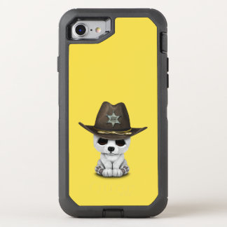 Capa Para iPhone 8/7 OtterBox Defender Xerife bonito de Cub de urso polar do bebê