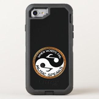 Capa Para iPhone 8/7 OtterBox Defender Yin Yang com palavras da música