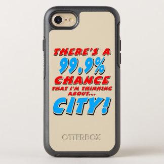 Capa Para iPhone 8/7 OtterBox Symmetry 99,9% CIDADE (preto)