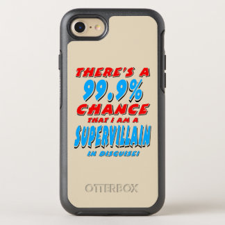 Capa Para iPhone 8/7 OtterBox Symmetry 99,9% Eu sou um BANDIDO SUPER (o preto)