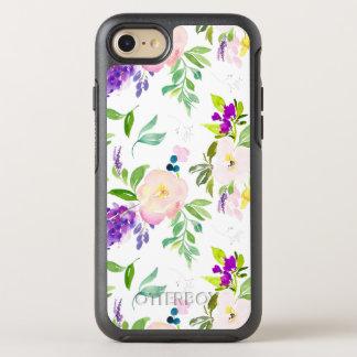Capa Para iPhone 8/7 OtterBox Symmetry A aguarela delicado floresce peônias e Wisterias