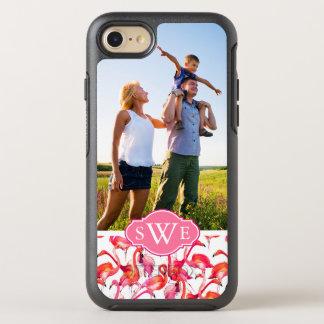 Capa Para iPhone 8/7 OtterBox Symmetry A aguarela Flamingos| adiciona seus foto &