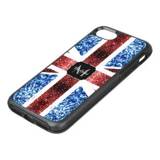 Capa Para iPhone 8/7 OtterBox Symmetry A bandeira BRITÂNICA vermelha e o azul sparkles