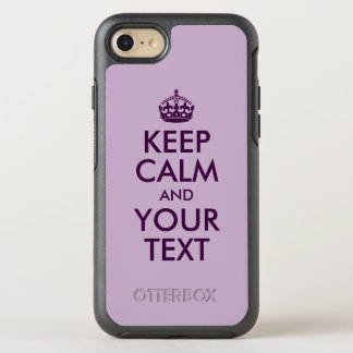 Capa Para iPhone 8/7 OtterBox Symmetry A beringela mantem a calma e o seu texto