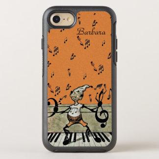 Capa Para iPhone 8/7 OtterBox Symmetry A nota da música do duende arma os pés que estão