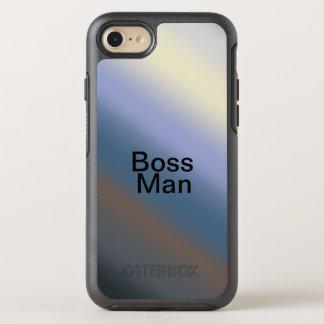 Capa Para iPhone 8/7 OtterBox Symmetry A prata da capa de telefone do homem do CHEFE/azul