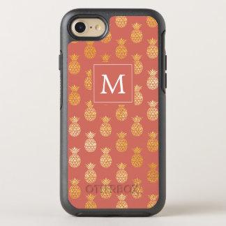 Capa Para iPhone 8/7 OtterBox Symmetry Abacaxis do monograma