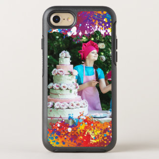 Capa Para iPhone 8/7 OtterBox Symmetry Abstrato do respingo do arco-íris
