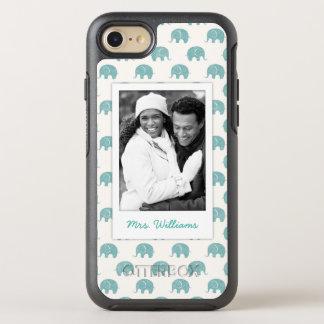 Capa Para iPhone 8/7 OtterBox Symmetry Adicione seu teste padrão bonito do elefante da