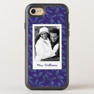 Capa Para iPhone 8/7 OtterBox Symmetry Adicione suas borboletas do roxo da foto |