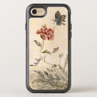 Capa Para iPhone 8/7 OtterBox Symmetry Aguarela da abelha, da borboleta e da papoila do