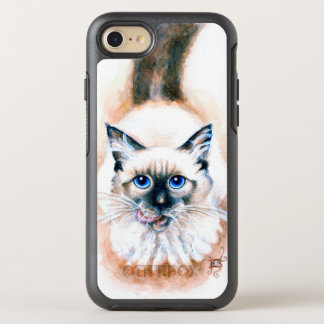 Capa Para iPhone 8/7 OtterBox Symmetry Aguarela do gato Siamese