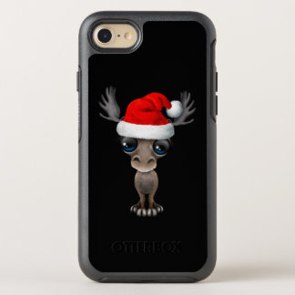 Capa Para iPhone 8/7 OtterBox Symmetry Alces do bebê que vestem um chapéu do papai noel