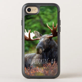 Capa Para iPhone 8/7 OtterBox Symmetry Alces selvagens no monte com atitude na foto da