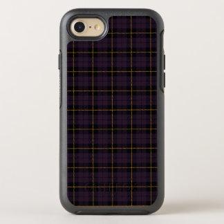 Capa Para iPhone 8/7 OtterBox Symmetry Ameixa roxa escura com a listra amarela e preta