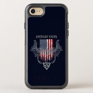 Capa Para iPhone 8/7 OtterBox Symmetry Americano Viking. Bandeira, capacete afligido,