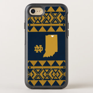 Capa Para iPhone 8/7 OtterBox Symmetry Amor tribal do estado de Notre Dame |