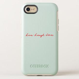 Capa Para iPhone 8/7 OtterBox Symmetry Amor vivo do riso da pia batismal vermelha chique