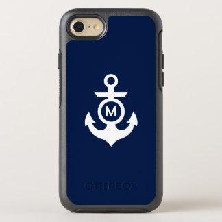 Capa Para iPhone 8/7 OtterBox Symmetry Âncora náutica do monograma |