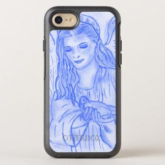 Capa Para iPhone 8/7 OtterBox Symmetry Anjo calmo no azul