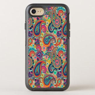 Capa Para iPhone 8/7 OtterBox Symmetry Arco-íris brilhante Paisley
