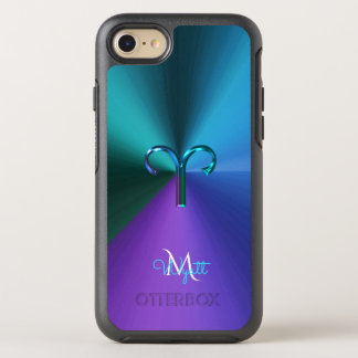 Capa Para iPhone 8/7 OtterBox Symmetry Aries metálico Hued legal do sinal do zodíaco