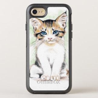 Capa Para iPhone 8/7 OtterBox Symmetry Arte bonito da aguarela do gato malhado