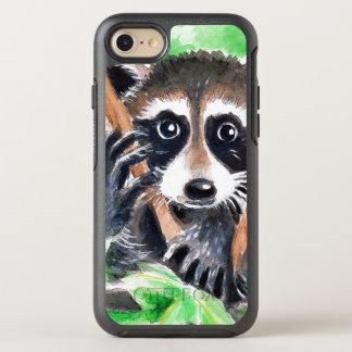 Capa Para iPhone 8/7 OtterBox Symmetry Arte bonito da aguarela do guaxinim