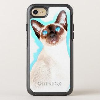 Capa Para iPhone 8/7 OtterBox Symmetry Arte da aguarela do gato Siamese