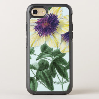 Capa Para iPhone 8/7 OtterBox Symmetry Arte da flor do Clematis